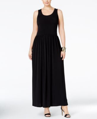 MICHAEL Michael Kors Plus Size Twist-Back Maxi Dress