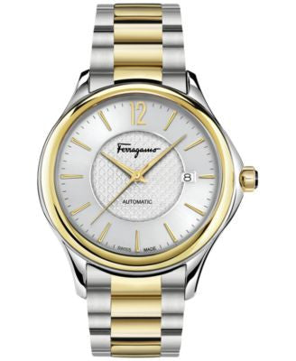 Ferragamo Men's Swiss Time Two-Tone Ion-Plated Stainless Steel Bracelet Watch 41mm FFT04 0016