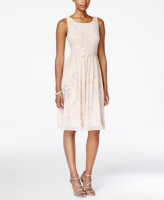 Adrianna Papell Sleeveless Embellished Fit & Flare Dress