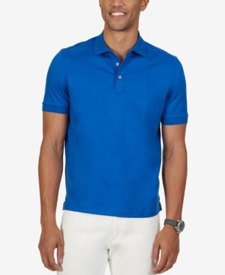 Nautica Men's Softex Jersey Cotton Solid Polo