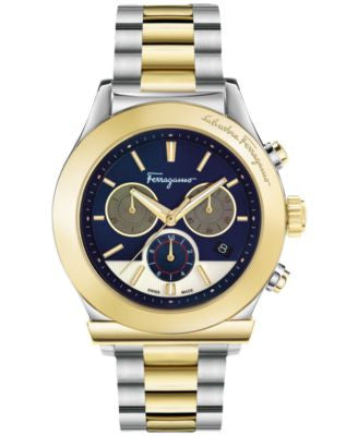 Ferragamo Men's Swiss Chronograph 1898 Two-Tone Ion-Plated Stainless Steel Bracelet Watch 42mm FFM11