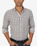 Nautica Men's Marine Check Long-Sleeve Shirt
