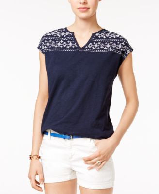 Tommy Hilfiger Karina Embroidered Top