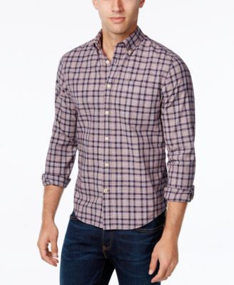 Tommy Hilfiger Men's Almeda Plaid Slub Long-Sleeve Shirt