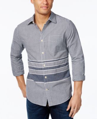 Tommy Hilfiger Men's Bessemer Colorblocked Checked Long-Sleeve Shirt