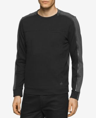 Calvin Klein Men's Slim-Fit Colorblocked Zip-Sleeve Shirt