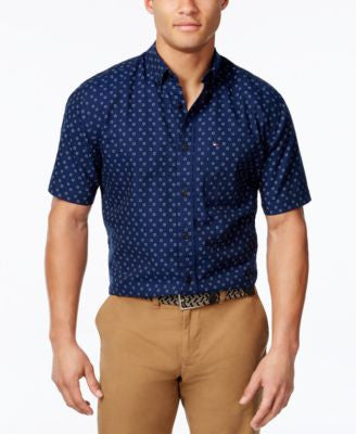 Tommy Hilfiger Men's Micro-Square Short-Sleeve Shirt