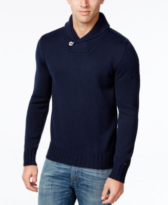 Tommy Hilfiger Men's Shane Knit Shawl-Collar Sweater