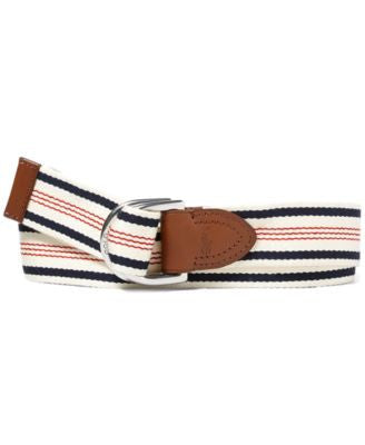 Polo Ralph Lauren Men's Striped Webbed Belt