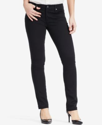 Lauren Ralph Lauren Stretch Modern Curvy Straight-Leg Jeans, Black Wash