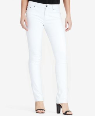 Lauren Ralph Lauren Super-Stretch Classic Straight Jeans, White Wash