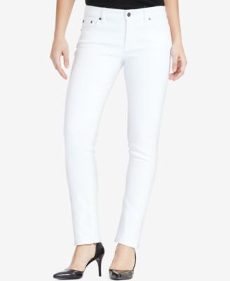 Lauren Ralph Lauren Stretch Modern Curvy Straight-Leg Jeans, White Wash