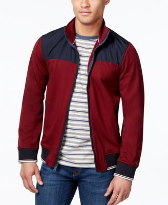 Tommy Hilfiger Men's Tori Colorblocked Knit Bomber Jacket