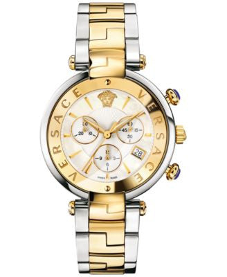 Versace Women's Swiss Chronograph Revive Two-Tone Ion-Plated Stainless Steel Bracelet Watch 41mm VAJ