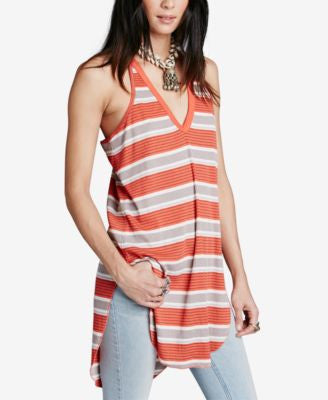 Free People Striped High-Low Tunic