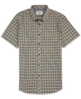 Billabong Men's Check-Print Shirt