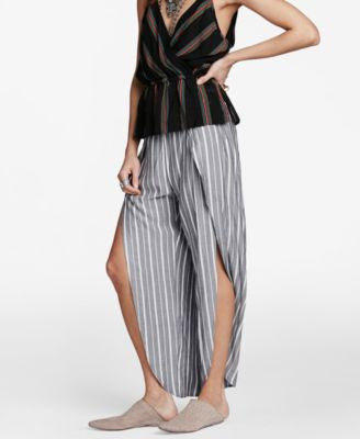 Free People Rosemary Striped Open-Leg Pants