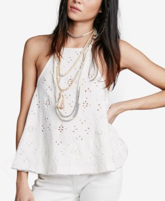 Free People Dream Date Lace-Up Trapeze Tank Top