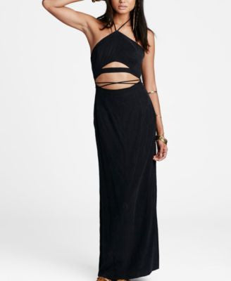 Free People Cutout Halter Maxi Dress