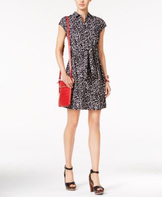 Tommy Hilfiger Printed Belted Shirtdress, Only at Vogily