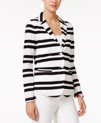 Tommy Hilfiger Striped Two-Button Blazer, Only at Vogily