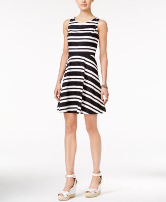Tommy Hilfiger Striped Fit & Flare Dress, Only at Vogily
