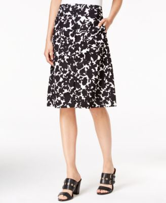 Tommy Hilfiger Printed Button-Front Skirt, Only at Vogily