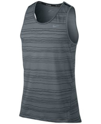 Nike Men's Cool Tailwind Striped Dri-FIT Running Tank