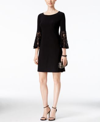 R & M Richards Petite Lace Bell-Sleeve Dress