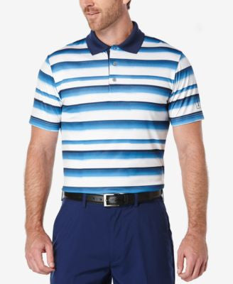 PGA TOUR Men's Stripe Golf Polo Shirt