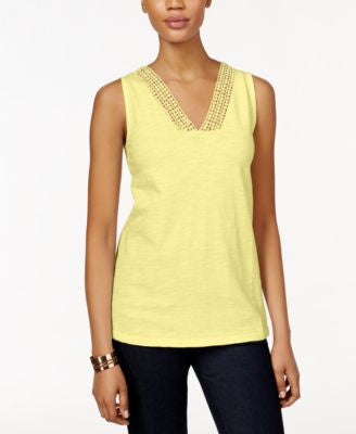 Style & Co. Crochet-Trim Tank Top, Only at Vogily