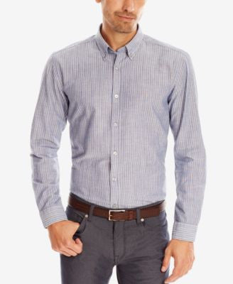 BOSS Men's Striped Slim-Fit Button Down Shirt