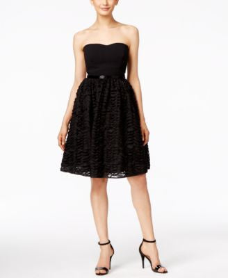 Calvin Klein Strapless Embellished Dress