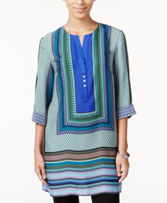 Grace Elements Border-Print Tunic Top