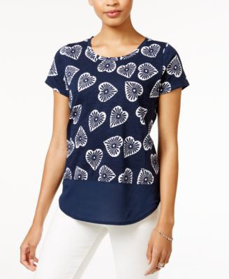 Maison Jules Printed Contrast T-Shirt, Only at Vogily