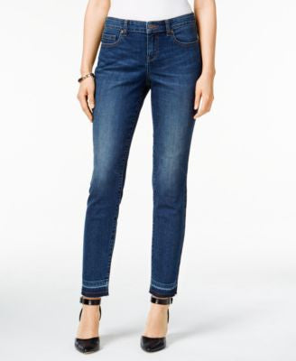 Style & Co. Curvy Copper Wash Released Hem Ankle Jeans, Only at Vogily