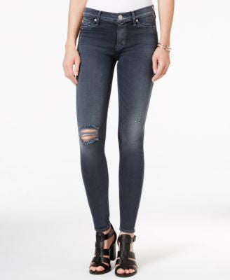 Hudson Jeans Ripped Super-Skinny Jeans, Nico Dark Skies Wash