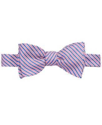 Brooks Brothers Men's Seersucker Striped To-Tie Bow Tie