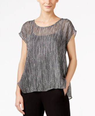 Eileen Fisher Silk High-Low Swing Top