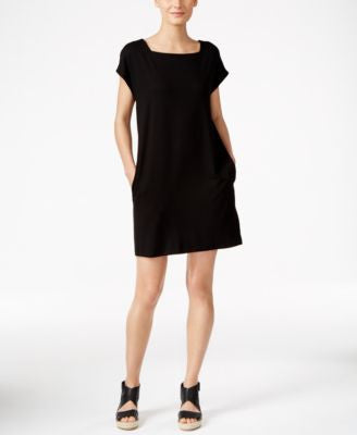Eileen Fisher Petite Square-Neck Shift Dress