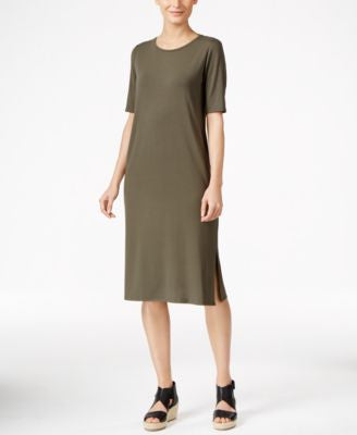 Eileen Fisher Petite Midi T-Shirt Dress