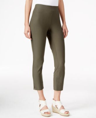Eileen Fisher Petite Cropped Slim-Fit Pants
