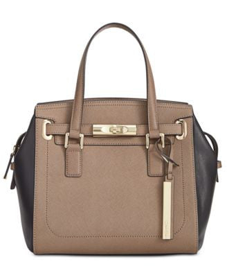 Calvin Klein Mixed Leather Satchel