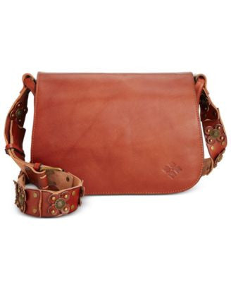 Patricia Nash Strapped Vintage Rosa Saddle Bag