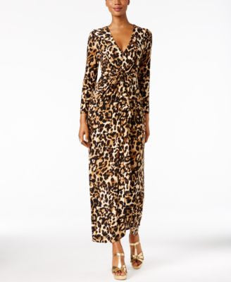 Thalia Sodi Embellished Tie-Knot Wrap Maxi Dress, Only at Vogily