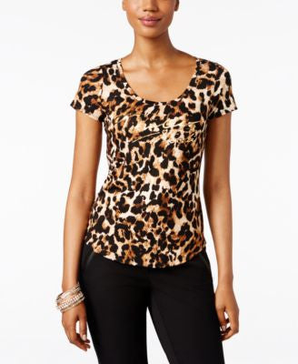 Thalia Sodi Animal-Print T-Shirt, Only at Vogily