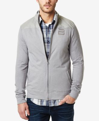 Buffalo David Bitton Men's Multi-Media Zip-Up Track Jacket