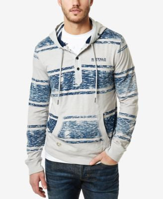 Buffalo David Bitton Men's Striped Drawstring Hoodie