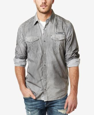 Buffalo David Bitton Men's Vintage Check Long-Sleeve Shirt