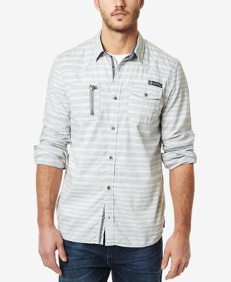 Buffalo David Bitton Men's Striped Long-Sleeve Shirt
